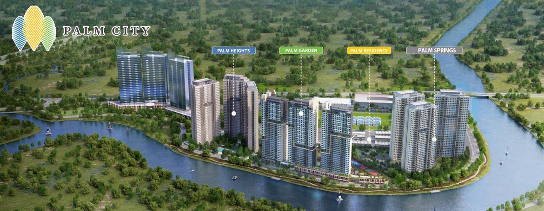 Phối cảnh khu đô thị Palm City Keppel Land tại quận 2.
