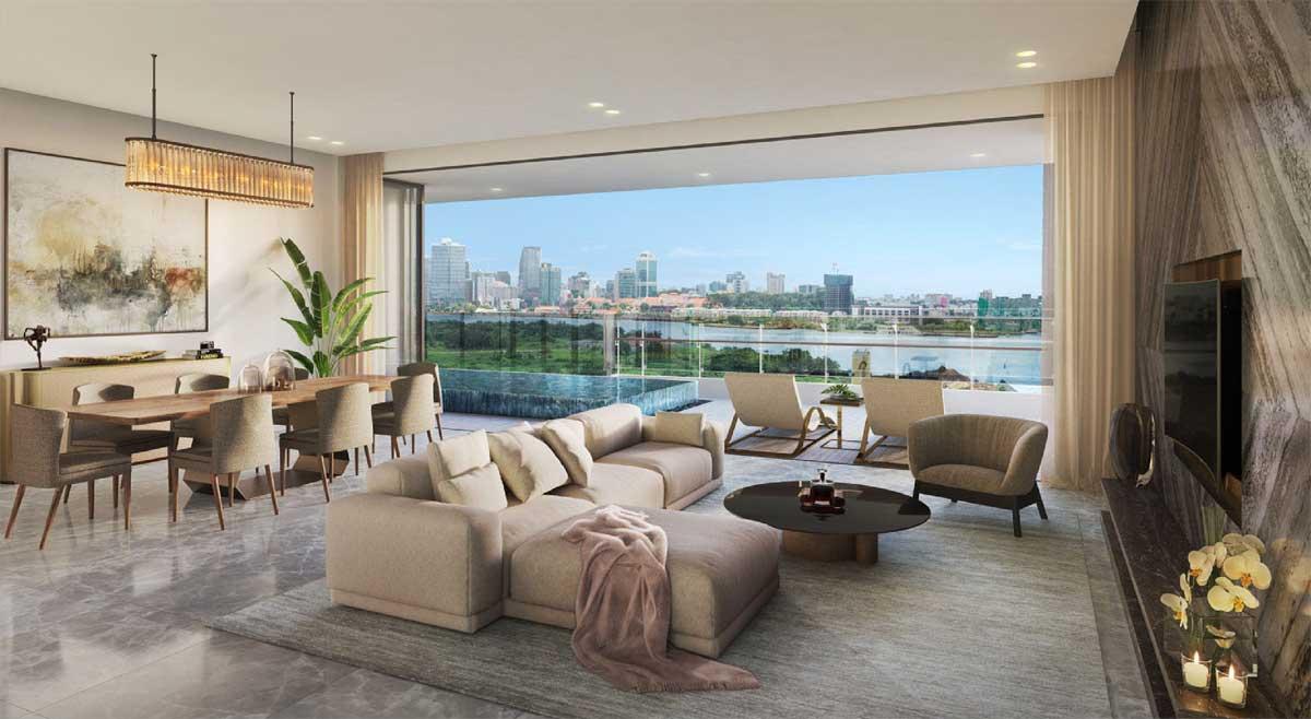 Thiết kế tinh tế căn hộ Palm Spring quận 2 thuộc KĐT Palm City Keppel Land.