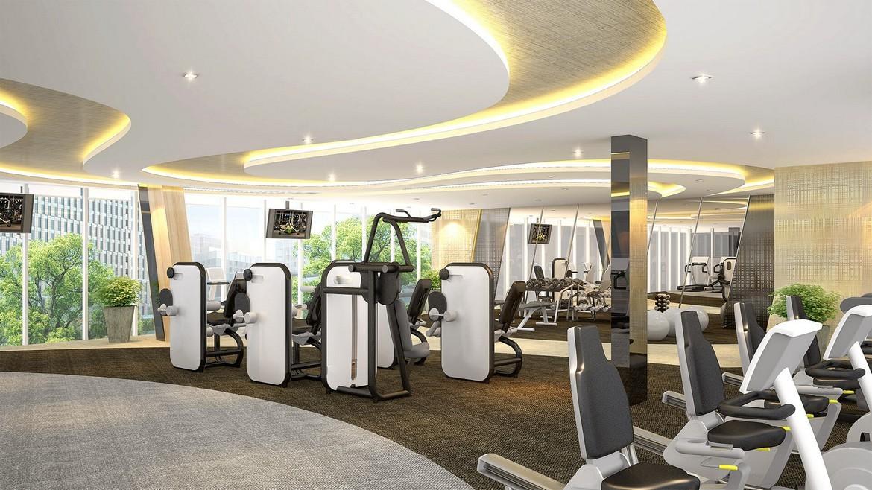 Phòng tập gym tại dự án căn hộ Palm Spring quận 2 - Palm City Keppel Land