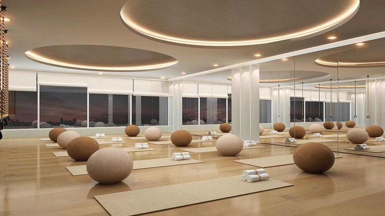 Phòng yoga tại dự án căn hộ Palm Spring quận 2 - Palm City Keppel Land