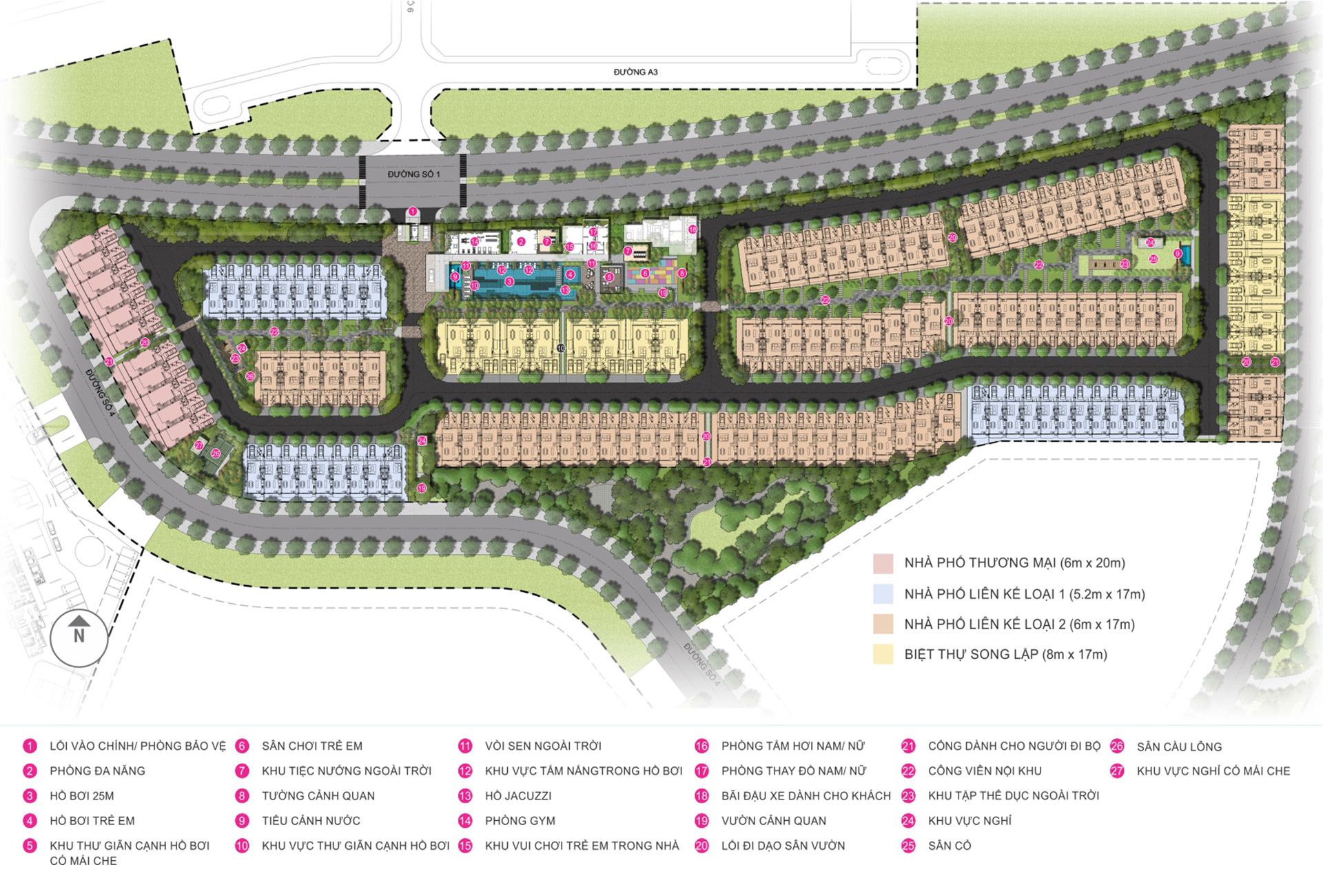 Tiện ích dự án căn hộ Palm Spring quận 2 - Palm City Keppel Land.